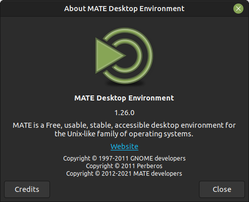 Good news! MATE Desktop 1.26 is available for Ubuntu MATE 20.04 🐈 and 21.04 🦛 via the Fresh MATE PPA  💪  🧉 https://launchpad.net/~ubuntu-mate-dev/+archive/ubuntu/fresh-mate